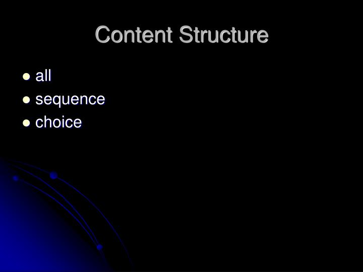 Content Structure