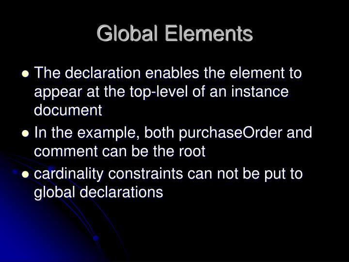 Global Elements