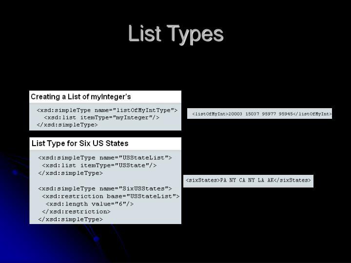 List Types