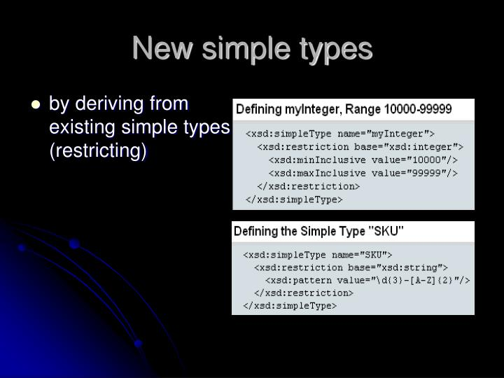 New simple types