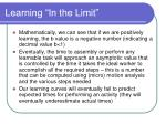 learning in the limit