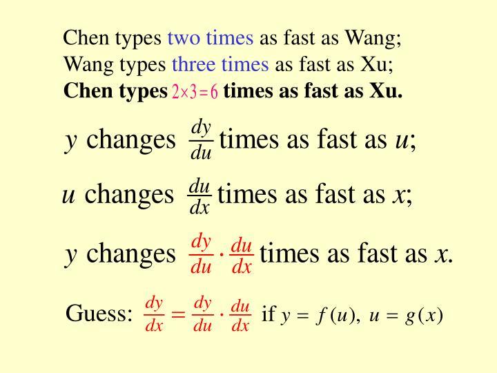 Chen types