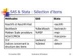 sas stata s lection d items
