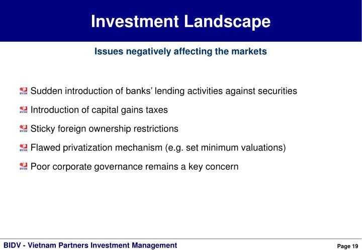 Investment Landscape