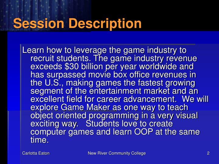 Session description