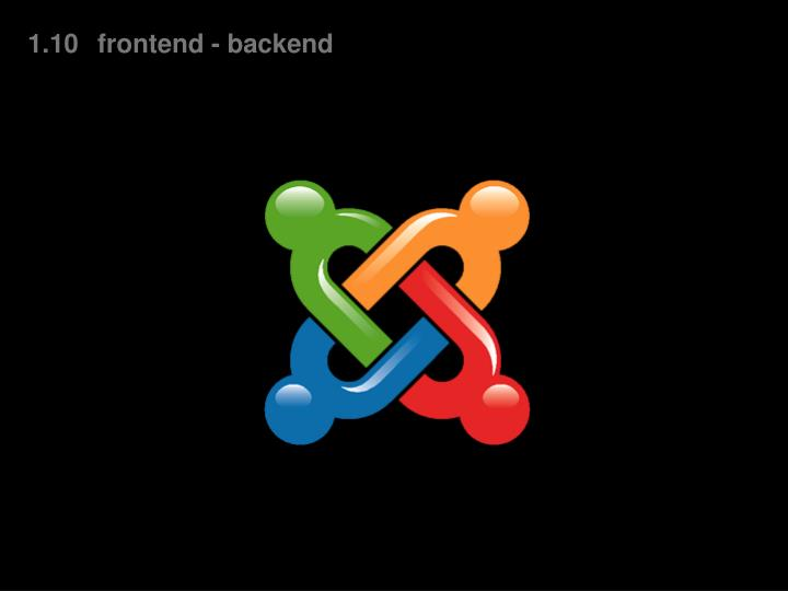 1.10frontend - backend
