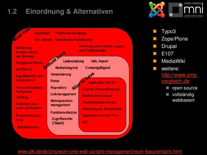 1.2Einordnung & Alternativen