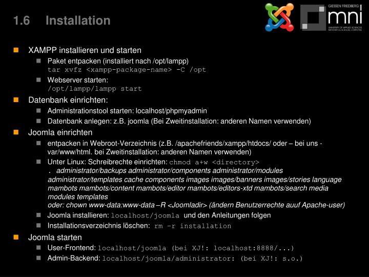 1.6Installation