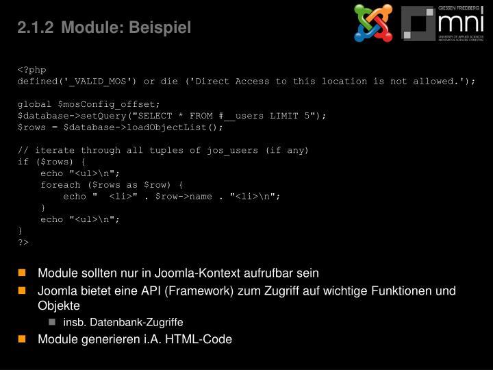 2.1.2Module: Beispiel
