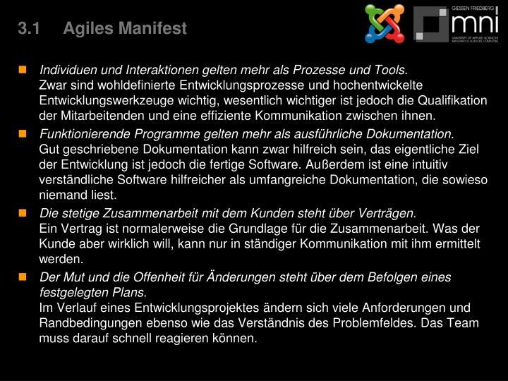 3.1Agiles Manifest