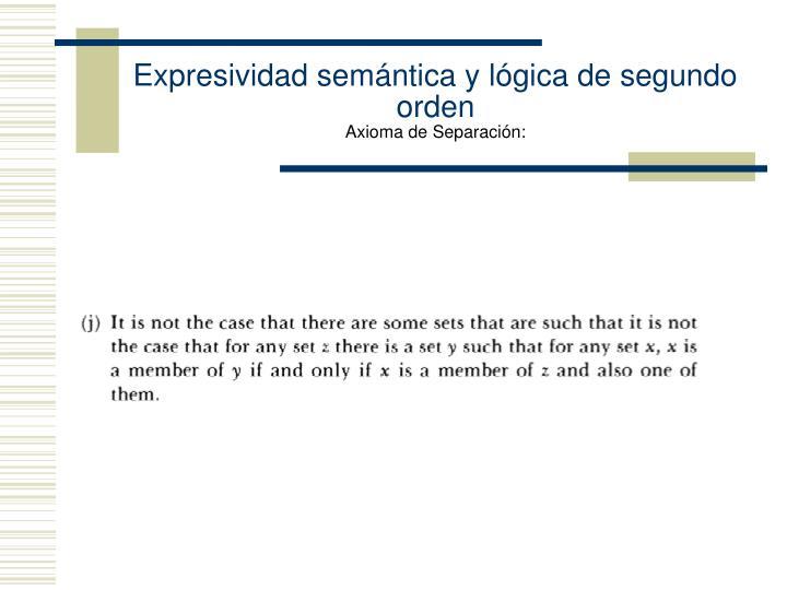 Expresividad semántica y lógica de segundo orden