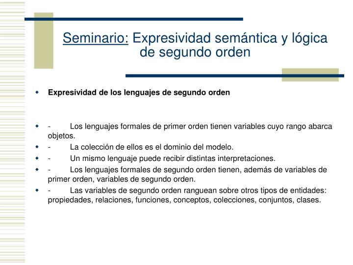 Seminario expresividad sem ntica y l gica de segundo orden1