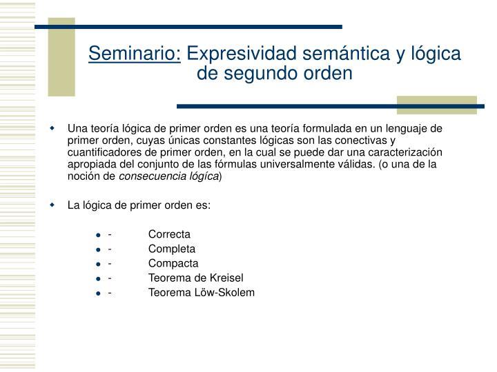 Seminario expresividad sem ntica y l gica de segundo orden2