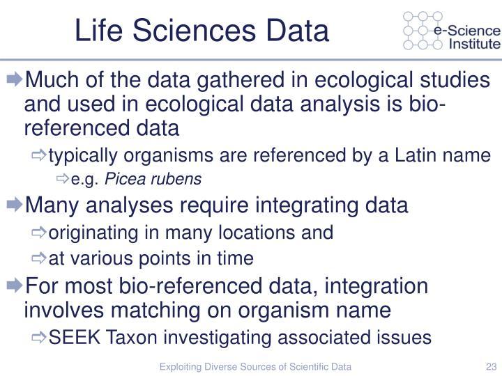 Life Sciences Data