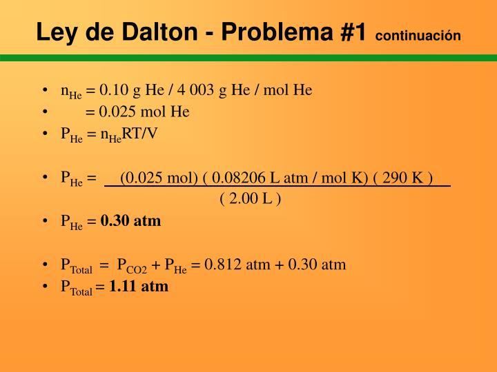 Ley de Dalton - Problema #1