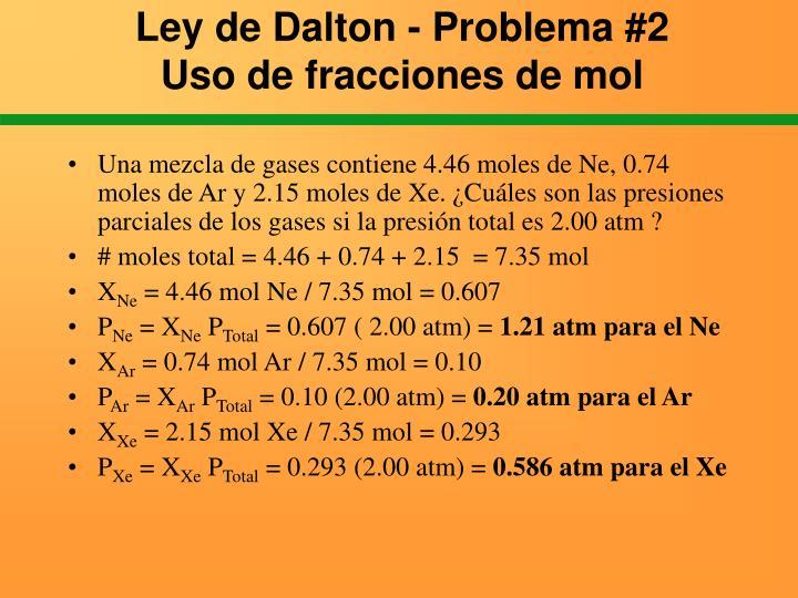 Ley de Dalton - Problema #2