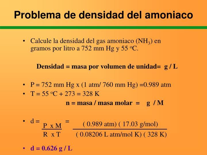 ( 0.989 atm) ( 17.03 g/mol)
