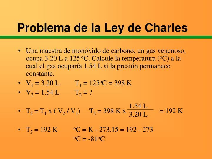 Problema de la Ley de Charles