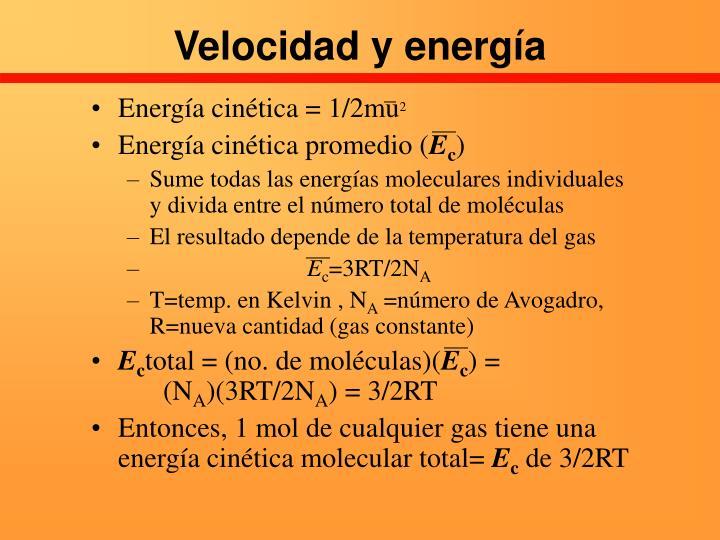 Velocidad y energía