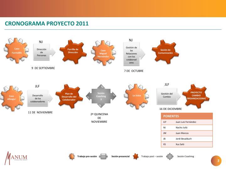 Cronograma proyecto 20111