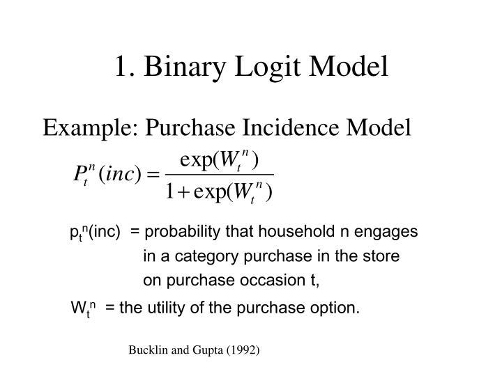 1. Binary Logit Model