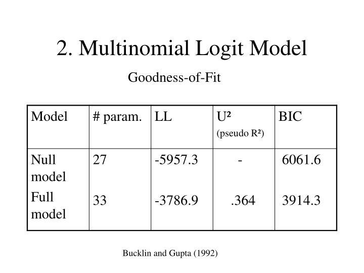 2. Multinomial Logit Model