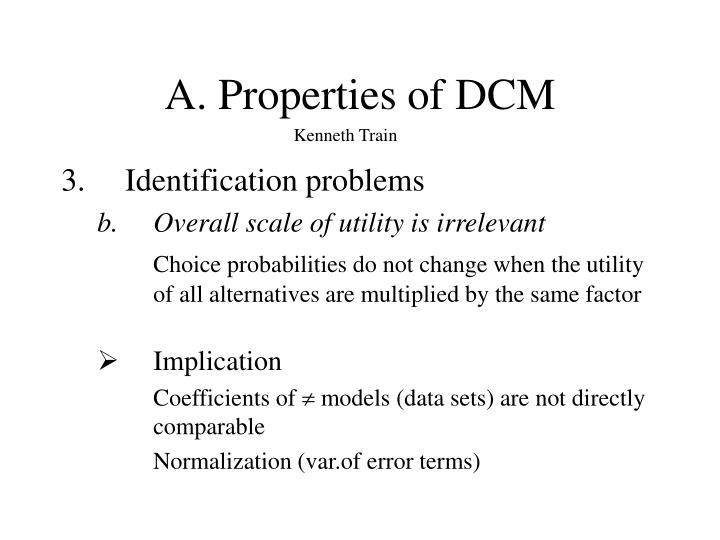 A. Properties of DCM