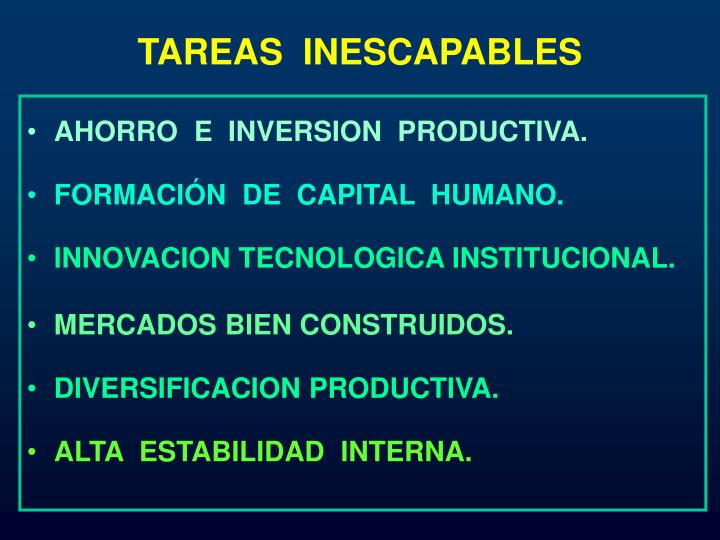 TAREAS  INESCAPABLES