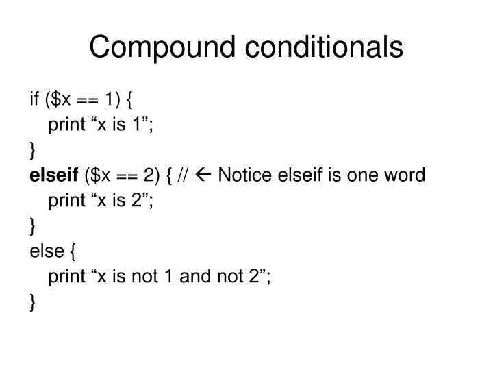 Compound conditionals