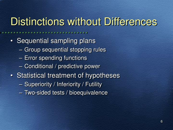 Distinctions without Differences