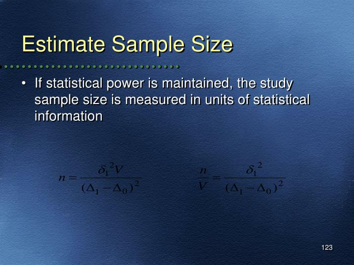 Estimate Sample Size