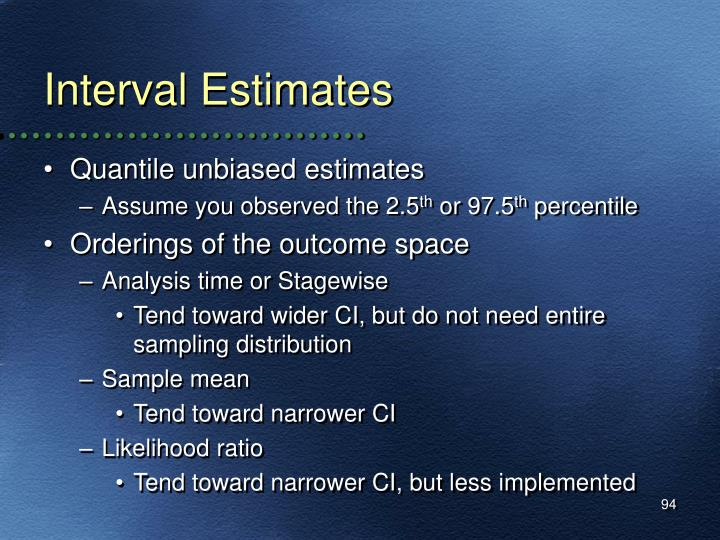 Interval Estimates