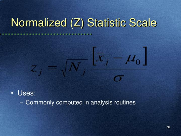 Normalized (Z) Statistic Scale