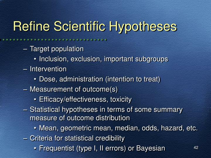 Refine Scientific Hypotheses