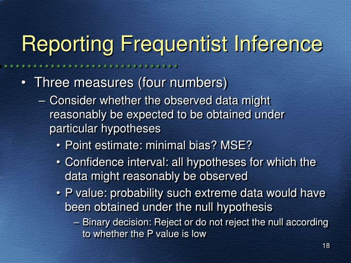 Reporting Frequentist Inference