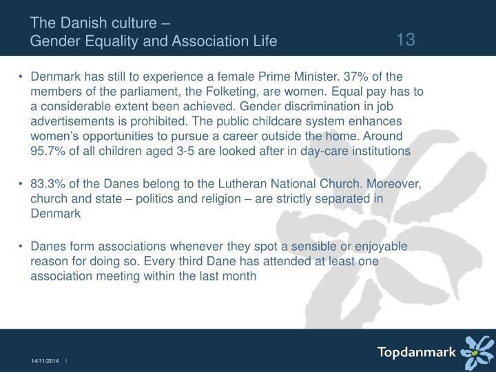 The Danish culture –