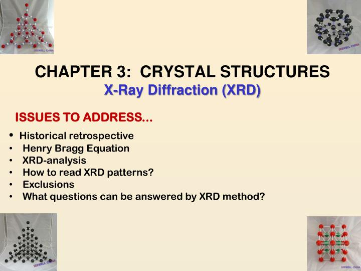 Chapter 3 crystal structures x ray diffraction xrd