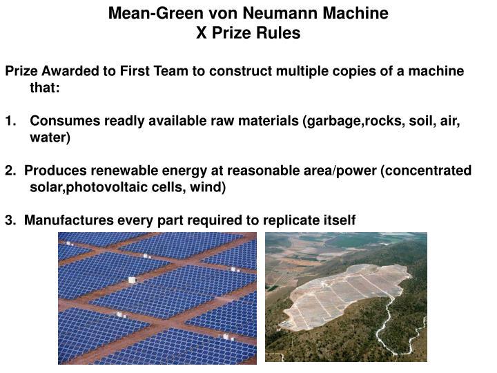 Mean-Green von Neumann Machine