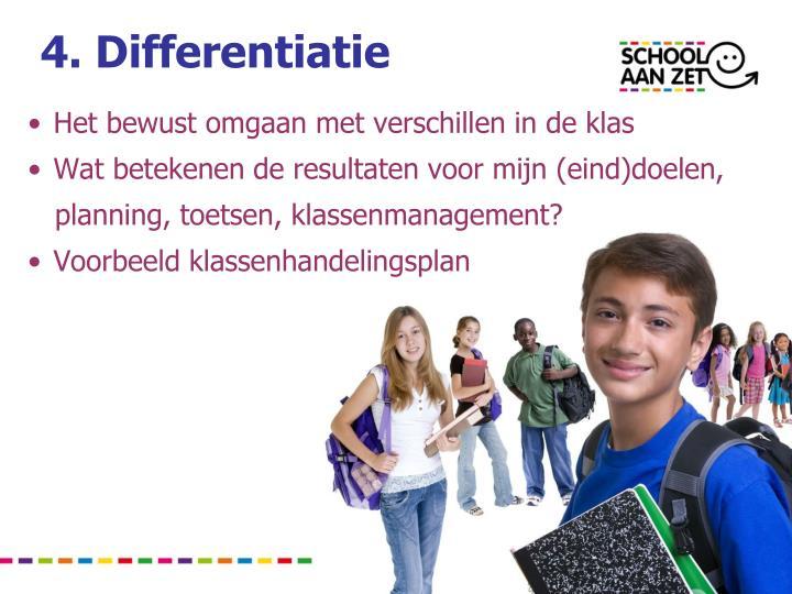 4. Differentiatie