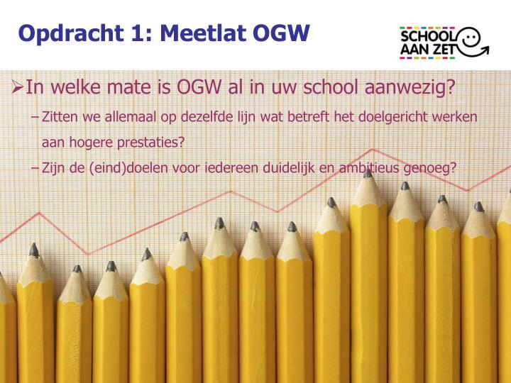 Opdracht 1: Meetlat OGW