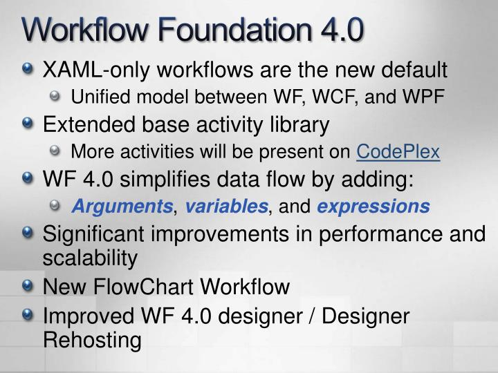 Workflow Foundation 4.0