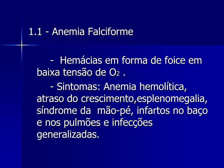 1.1 - Anemia Falciforme
