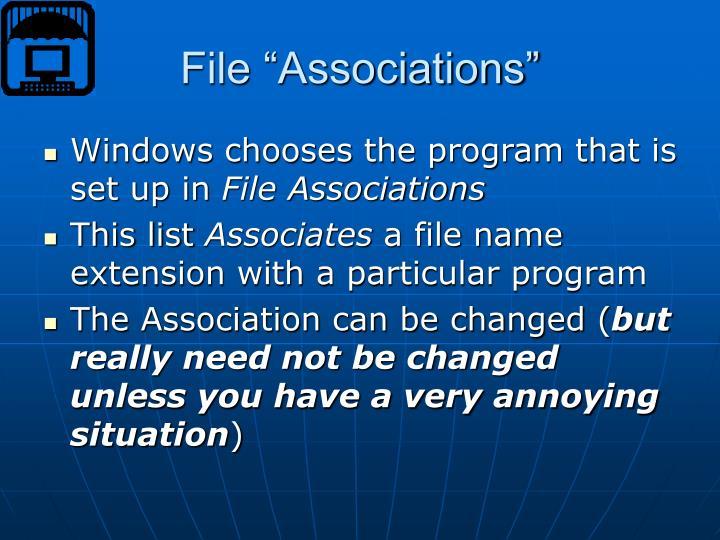 "File ""Associations"""