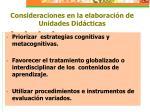 consideraciones en la elaboraci n de unidades did cticas