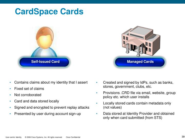 CardSpace Cards