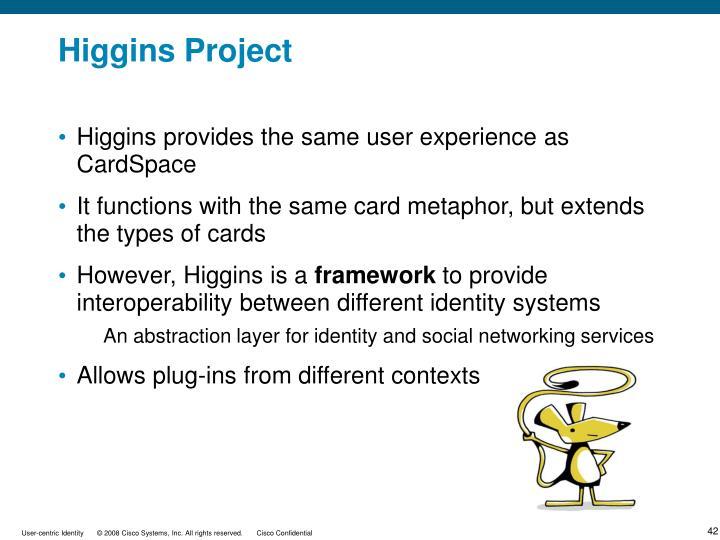 Higgins Project