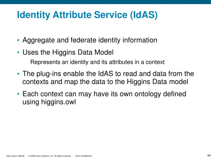 Identity Attribute Service (IdAS)