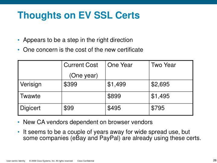 Thoughts on EV SSL Certs