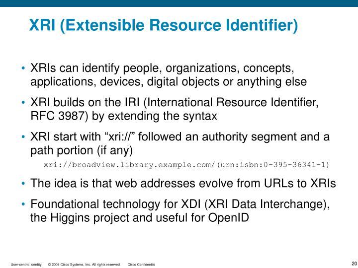 XRI (Extensible Resource Identifier)