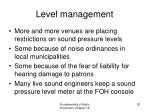 level management